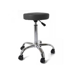 Flat pad black ergonomic stool