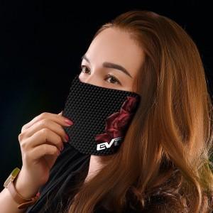 3 dobras preto máscaras