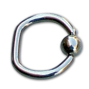 Ring-shaped ball D 1.6 mm.