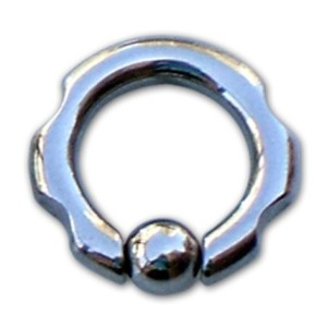 Ring with ball with grimacing 2.5 mm.