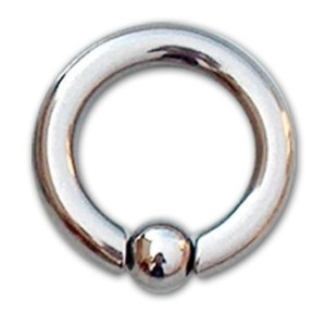 Hoop with ball 2.5 mm.