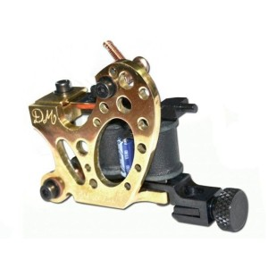 DM Binaural tattoo machine Golden brass - lines