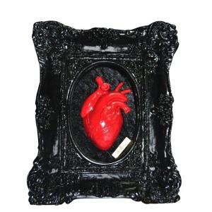 CUADRO SKULLTURE – BLACK RED HEART