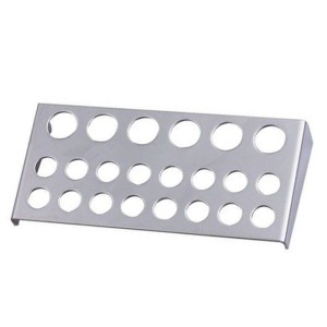 Large stainless steel holder