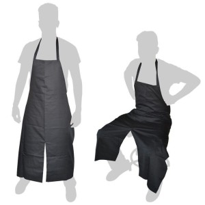 Fabric apron bib and opening in leg - 1 unit