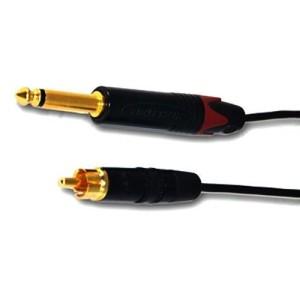 Clip cord RCA negro, 1880, totalmente artesanal y garantizado