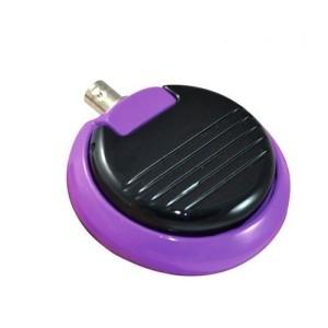 Pedale tondo metallico gioiello viola