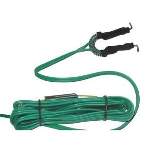Clip de gel de silicone verde de cabo