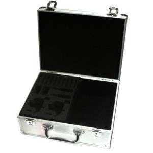 Suitcase for tattoo silver