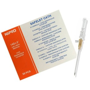Nipro cateter 14g 2.2x50mm