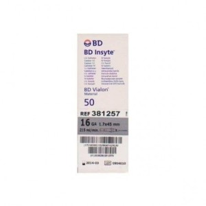 Catheter Becton Dickinson - Insyte 16G