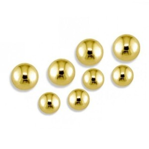 Bolas Acero Gold plated 1.2 mm