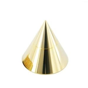 1,6 mm banhado a ouro de cones