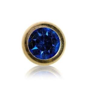 Esfera de aço banhado a ouro com joias 1,2 mm