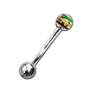 Barbell with balls rasta 1.6 mm.