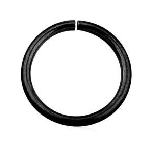 Aro fechado preto completo linha 1mm