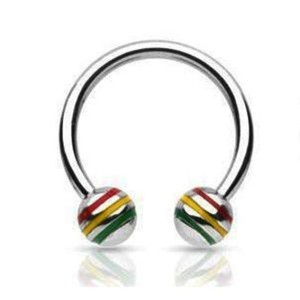 Circular barbell with balls rasta 1.2 mm.