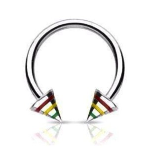 Circular barbell with cones rasta 1.2 mm.