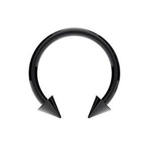 Circular Barbell mit Zapfen schwarz Linie 1,2 mm.
