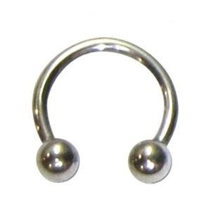 Barbell circular com bolas de 1,2 mm.