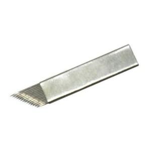 10 Nadel Microblading - 14 einzelne geneigten Linie