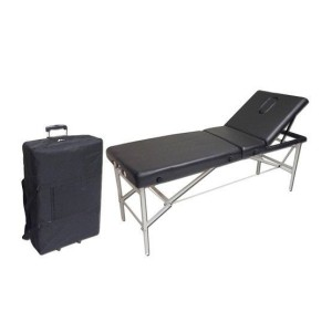Folding portable stretcher with bag with wheels