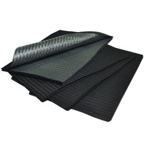 Panos de campo impermeável preto (100 unid.)