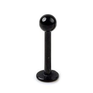 Labret with ball Black line 1.2 mm.