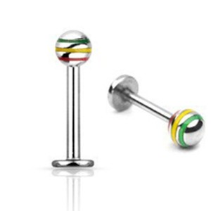 Labret with ball rasta 1.2 mm.