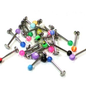 Assortment 25 Labret with acrylic ball 1.2 mm.