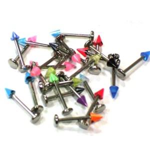Assortiment 25 Labret acrylique cône 1,2 mm.