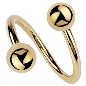 Espiral con bolas Gold plated 1.2 mm.