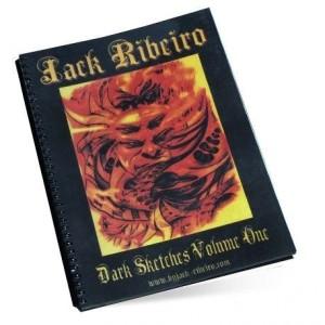 LIVRE NOIR SKETCHBOOK VOLUM 1 JACK RIBEIRO