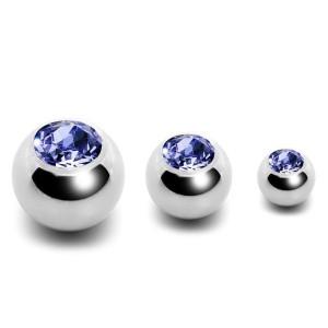 Boule acier avec bijoux 1,6 mm