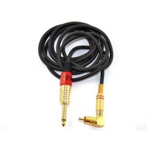 Clip cavo RCA titanio - serie oro - con adattatore a gomito