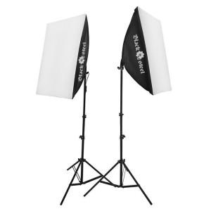 STAND - Softbox - Leuchtanzeige des Lichts mit Fuß - 2 Stück