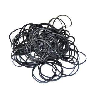 100 rubber rods black