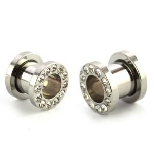 Segmento de diamante prata aço dilatador