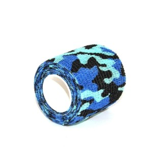 Camouflage blue elastic band for grips
