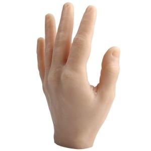 Mão direita de silicone para tattoo