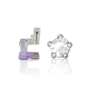 Regelmäßige Set Steine - Weißer Stein - Silber