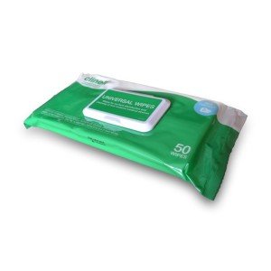 CLINELL Universal - 40 unités de surfaces lingettes désinfectantes